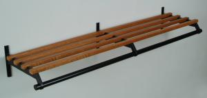 #32 Coat Rack - Medium Oak w/ 3 Brackets